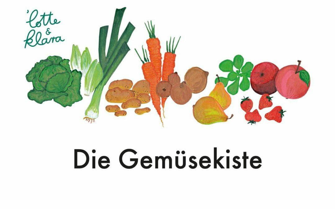 Bild mit Gemüsesorten - unser Flyer für das neue Angebot Gemüsekiste