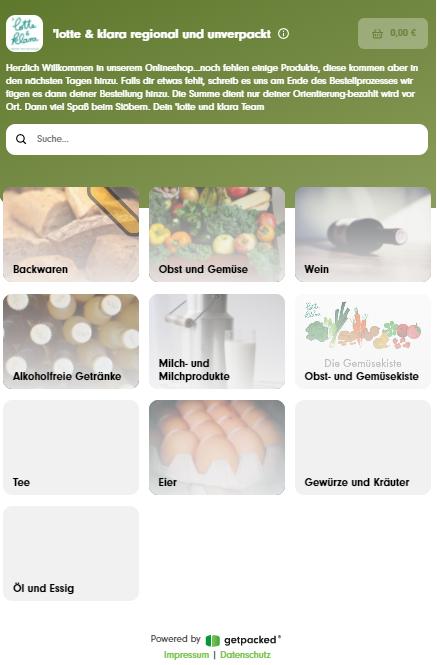 Startseite 'lotte & klara Online-Shop